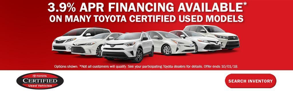 Toyota Certified APR Financing