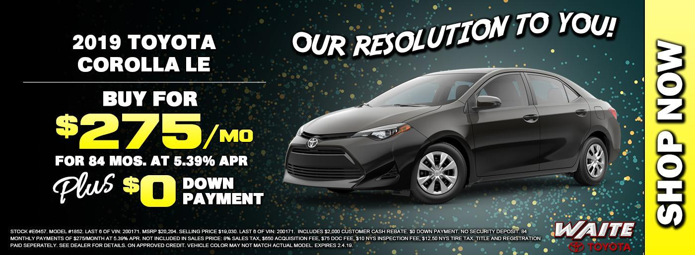 Shop 2019 Toyota Corolla in Watertown NY