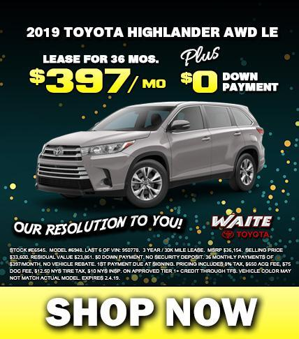 Shop 2019 Toyota Highlander in Watertown NY