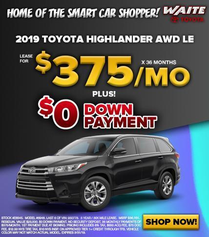 2019 Toyota Highlander AWD LE