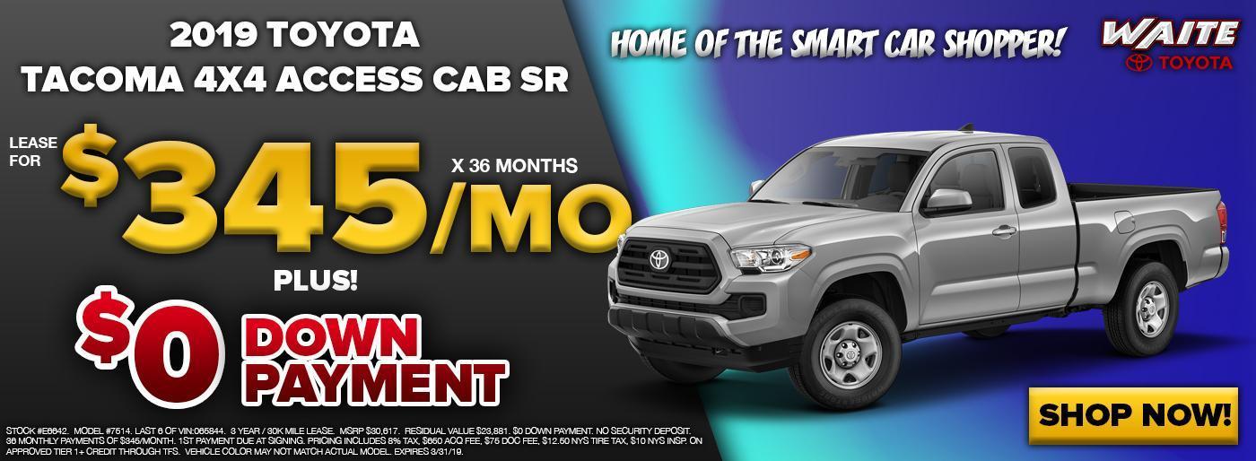 2019 Toyota Tacoma 4X4 Access Cab SR