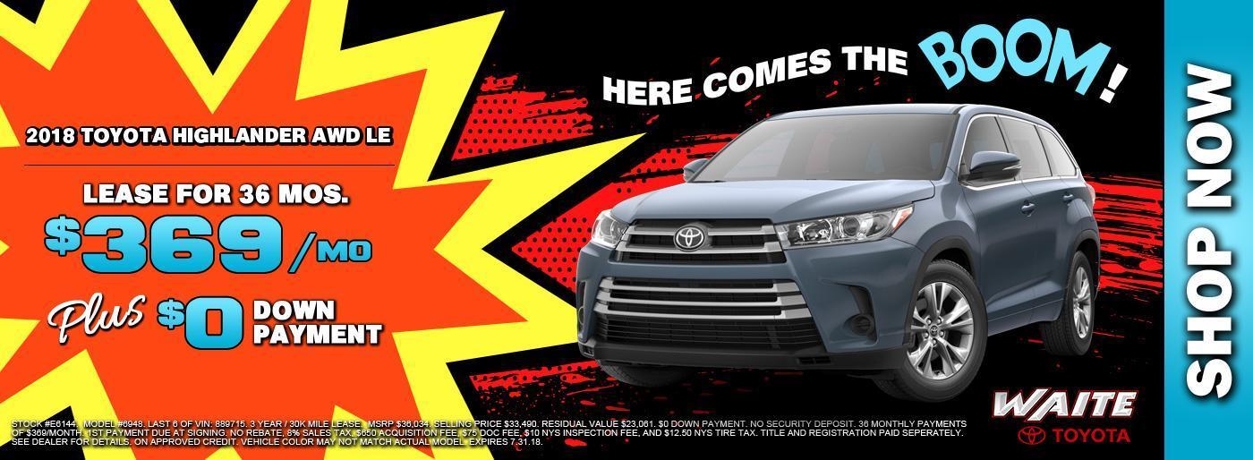 2018 Toyota Highlander AWD LE