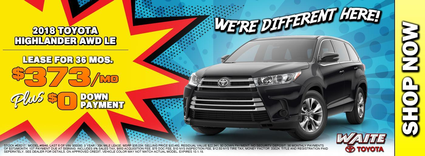 Shop 2018 Toyota Highlander in Watertown NY