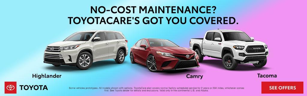 ToyotaCare No Cost Maintenance