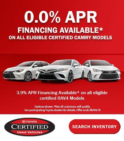 Toyota Certified Camry APR Special