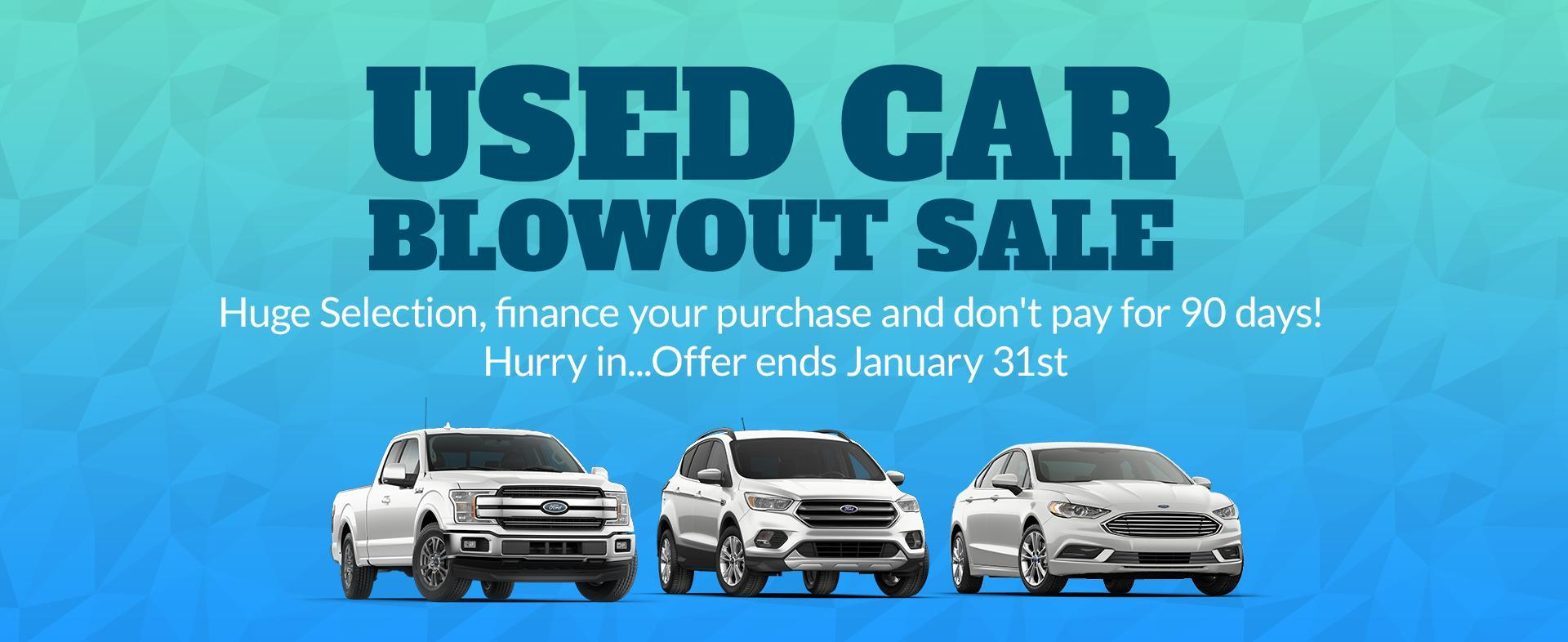 Used Car Blow Sale
