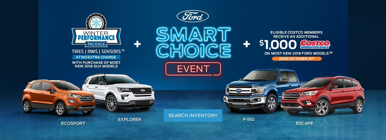 Smart Choice Event Blue F-150 and Red Escape