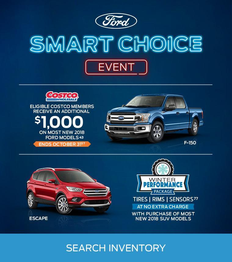 Smart Choice Event Blue F-150 red Escape