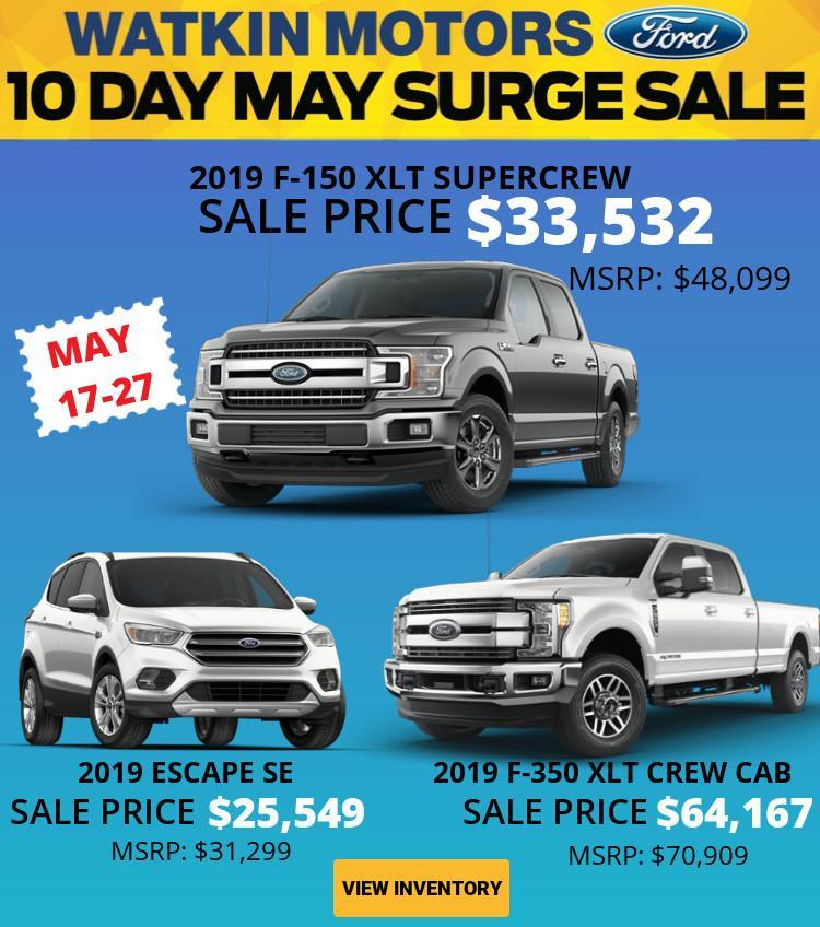 2019 May Surge Sale Watkin Motors