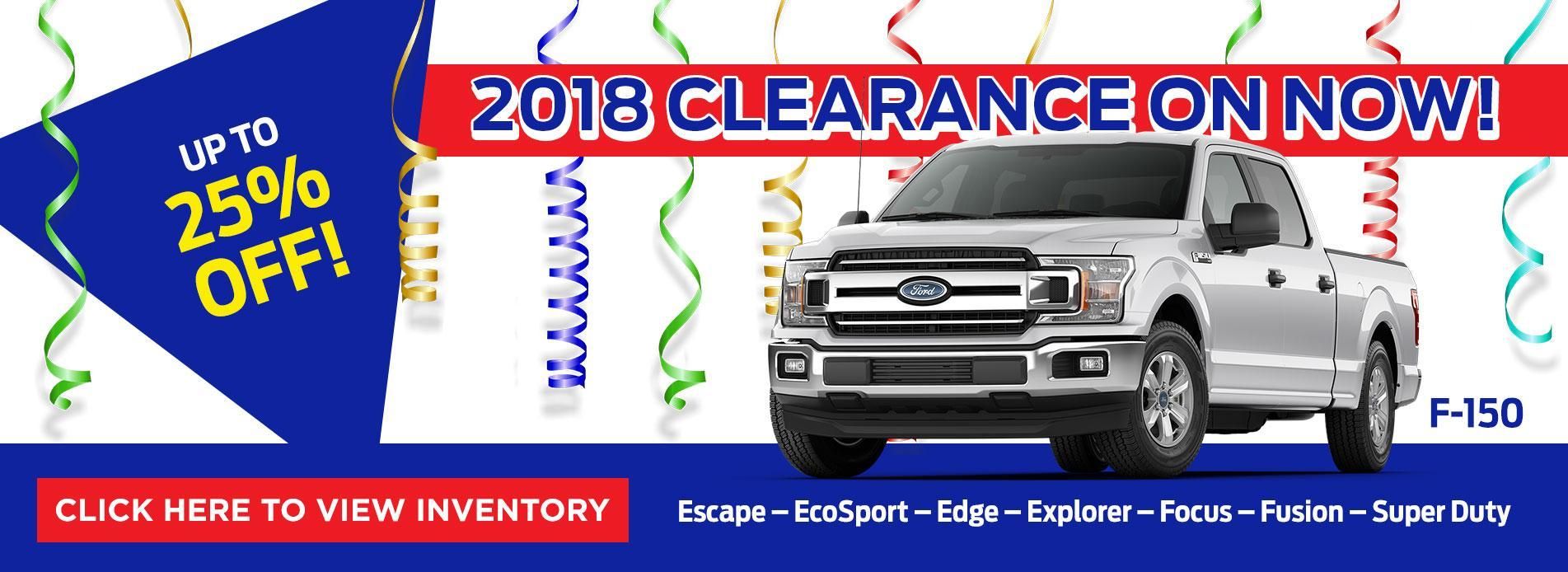 2018 Clearnace on NOw