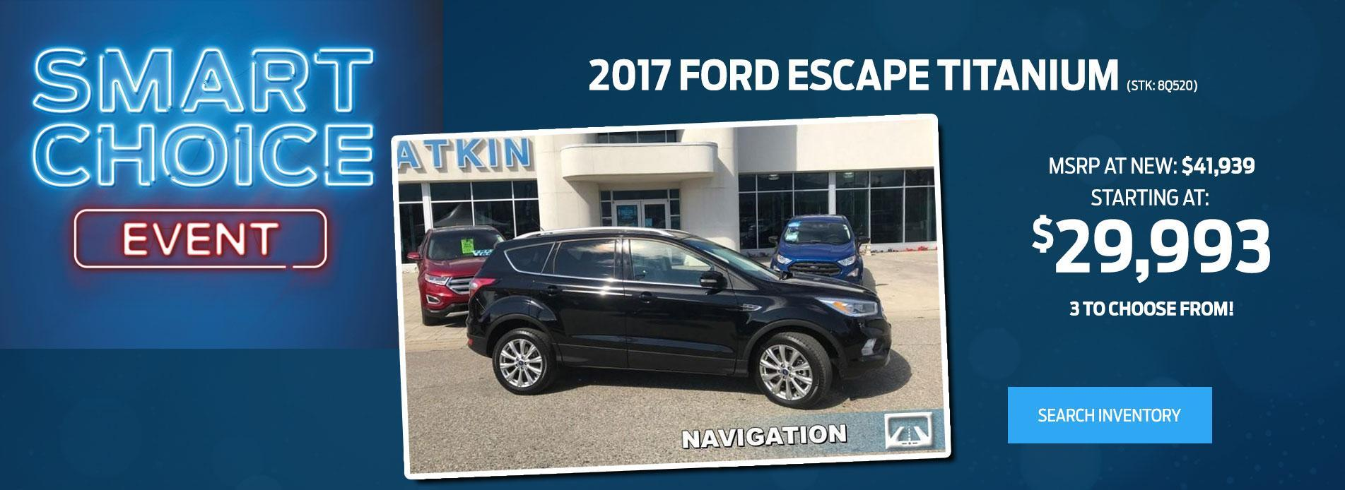 2017 ford Escape Black
