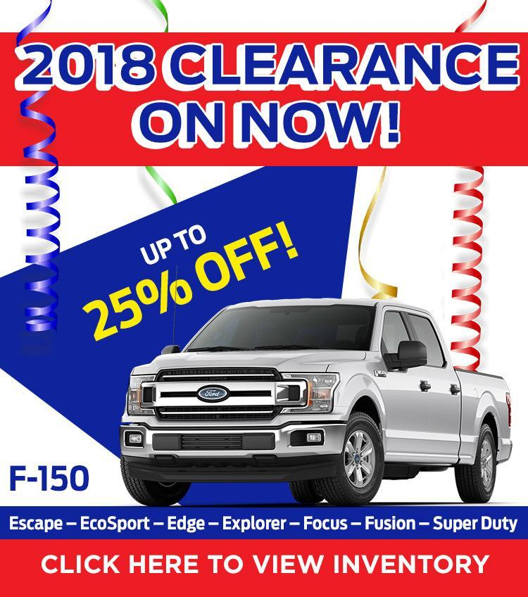 2018 Clearance on now