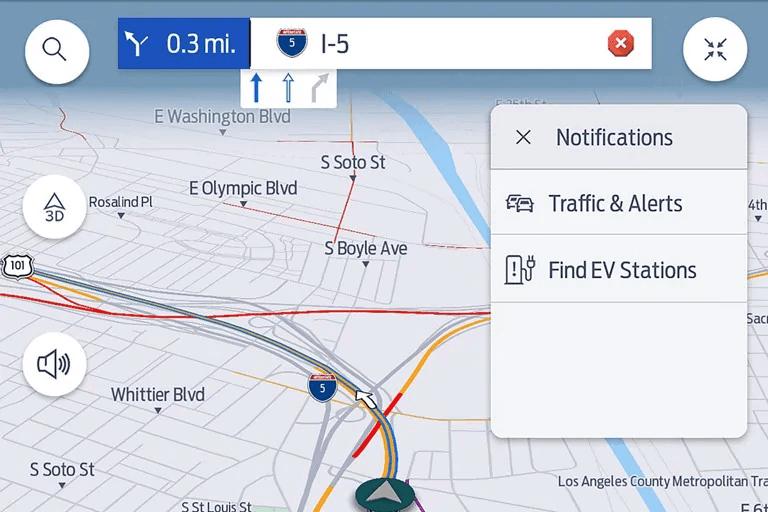 Ford SYNC 4 navigation