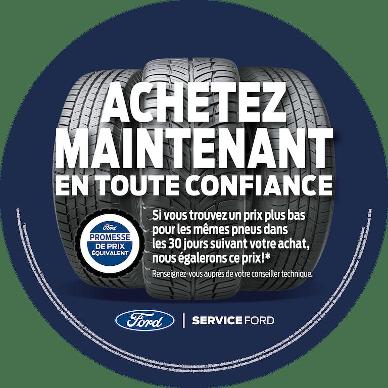 Pneus de Ford chez L'Ange Gardien Ford