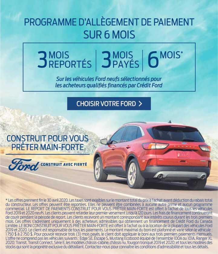 Offres Ford avril