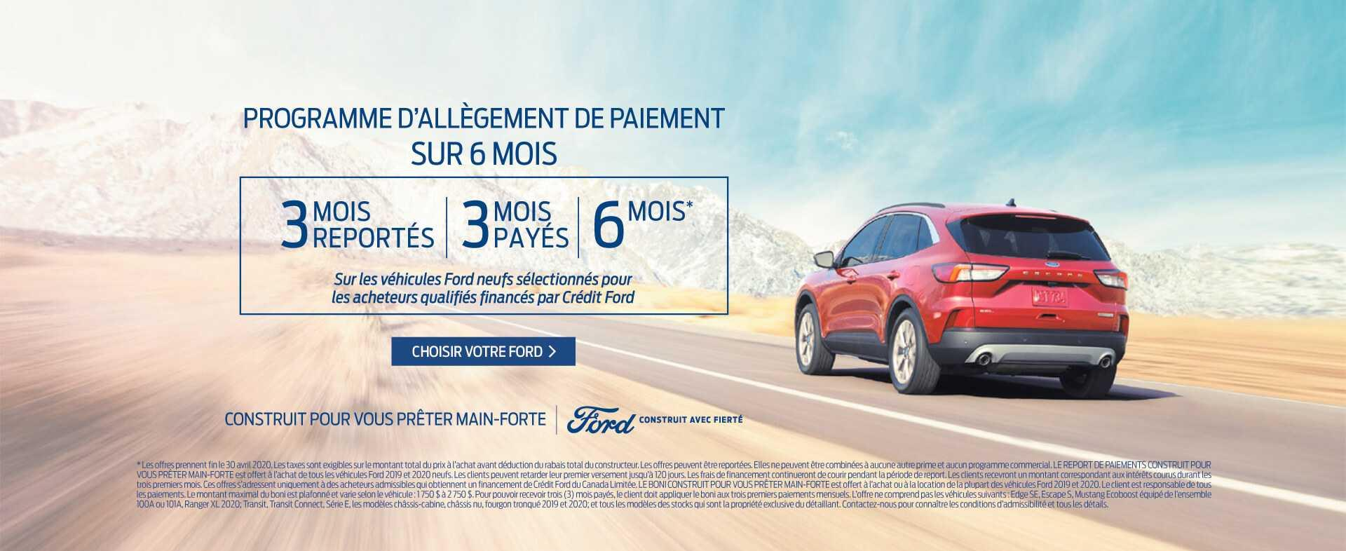 Offre Aide Ford avril