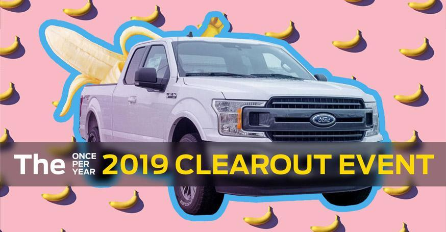 Wayne Pitman Ford's 2019 Inventory Clearout Event