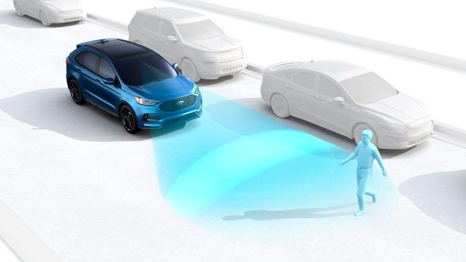 Ford Edge showing Emergency Brake Assist