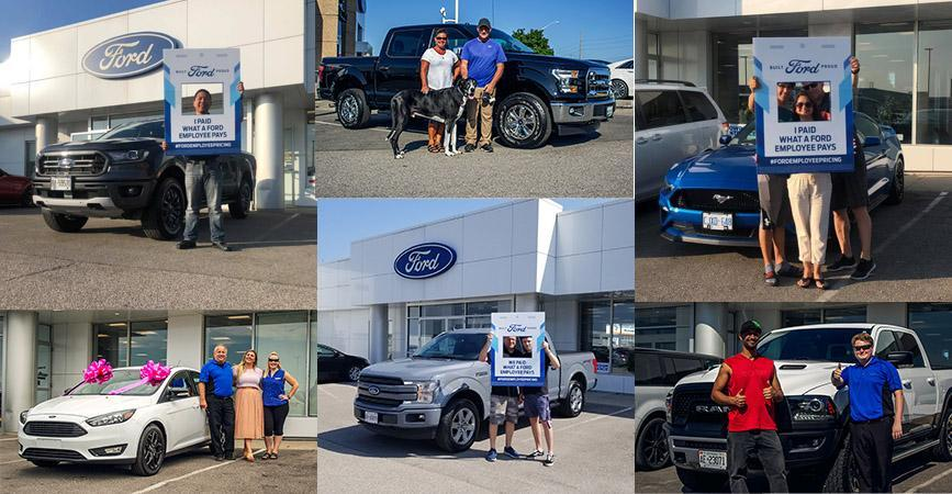 Collage of Good Review Customers taking Delivery of their New Ford Vehicles