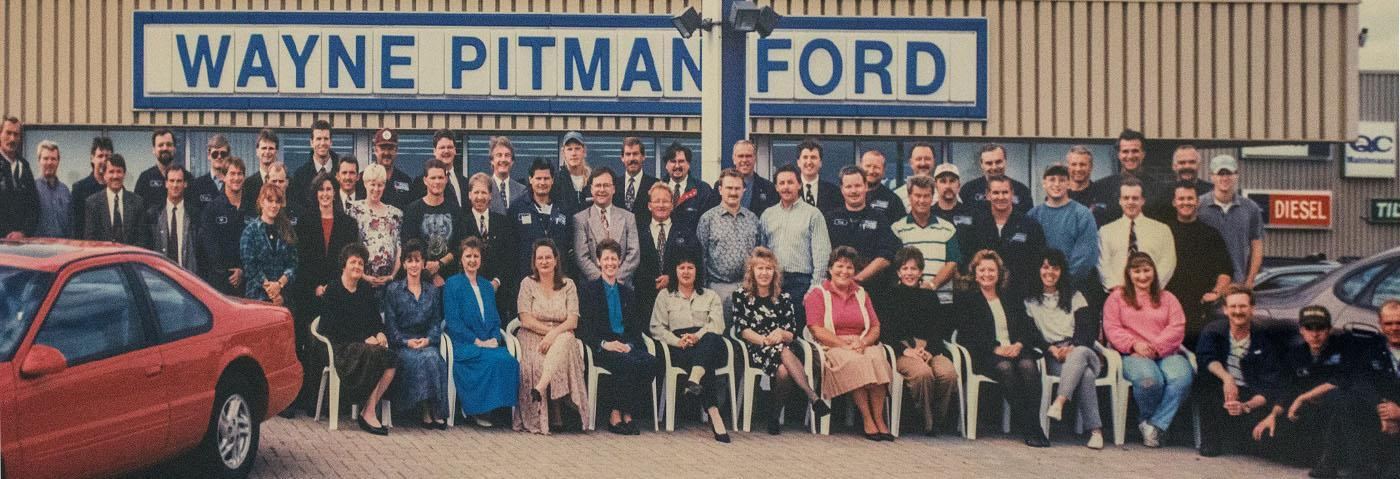 1970s Vintage Guelph Photo of the Wayne Pitman Ford Staff and Employee