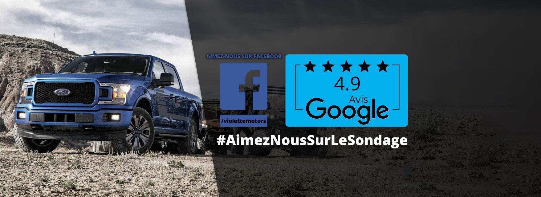 Violette Motors Aimez nous Facebook Googe