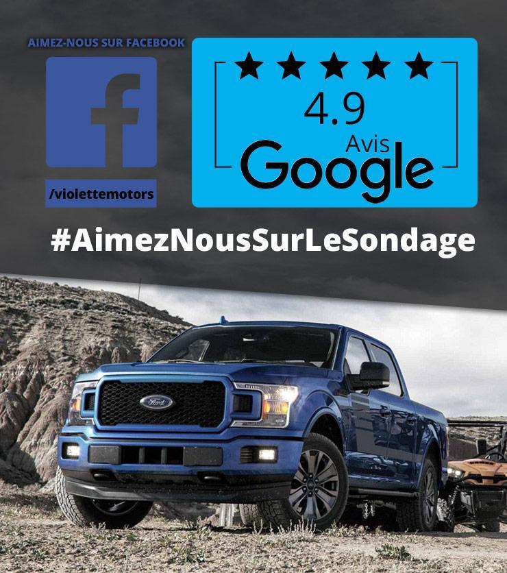 Violette Motors Aimez nous Facebook Google