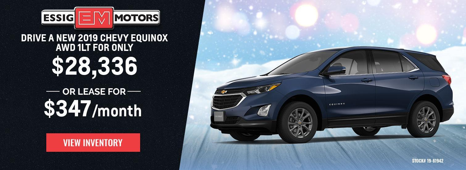 2019 Chevy Equinox AWD 1LT