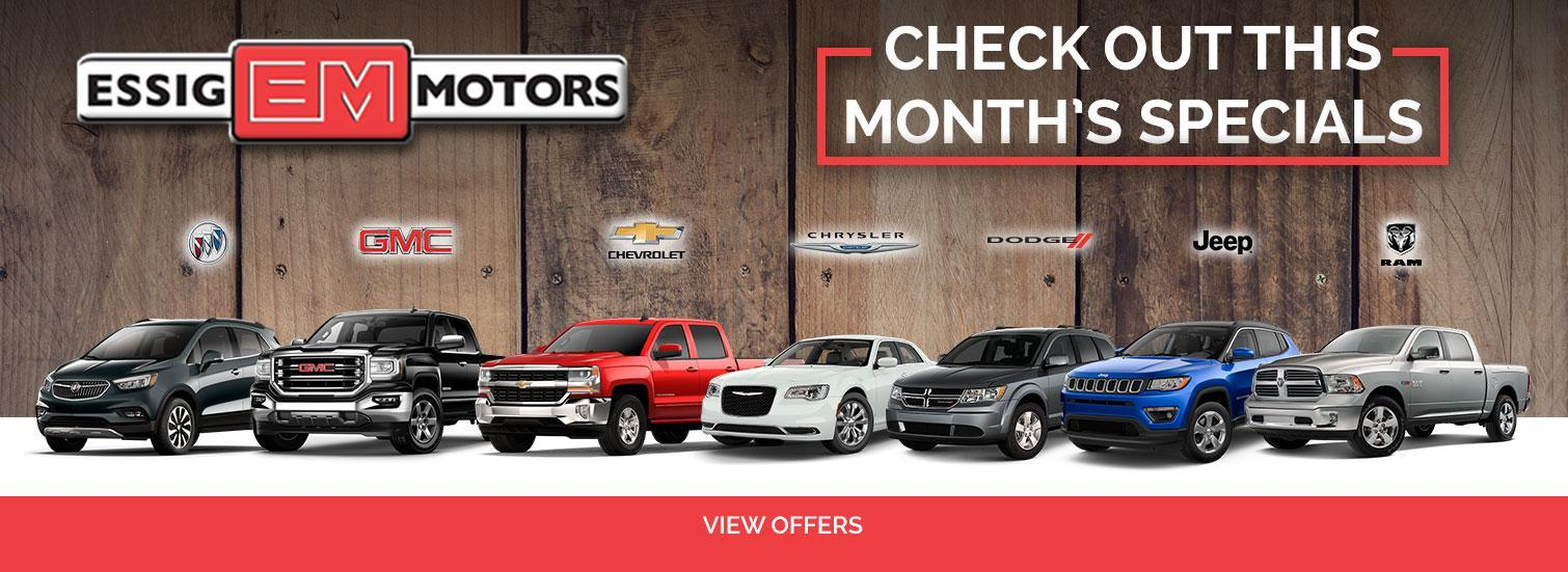 Specials at Essigs Motors