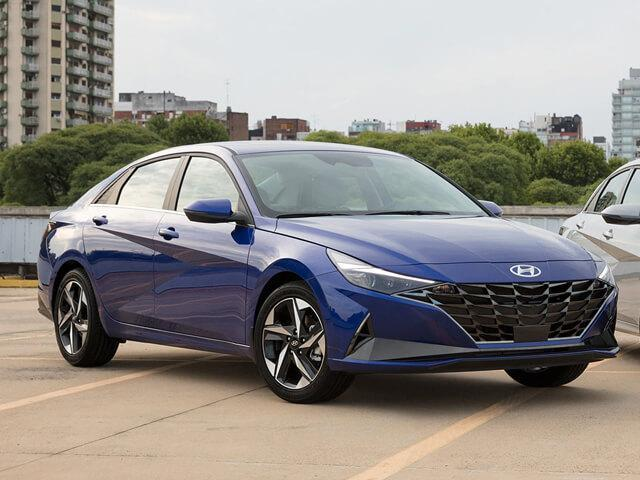 All-new 2021 Blue Hyundai Elantra