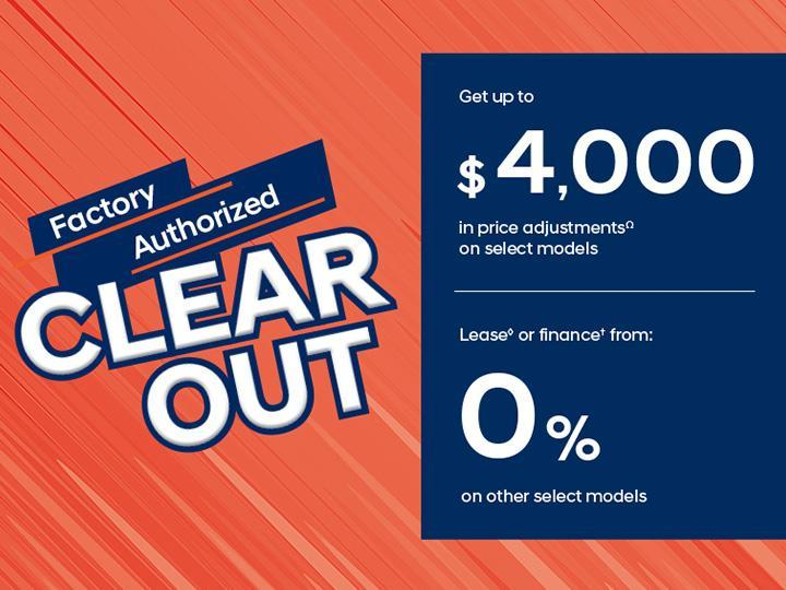Factory Authorized Clearout | Central Nova Hyundai
