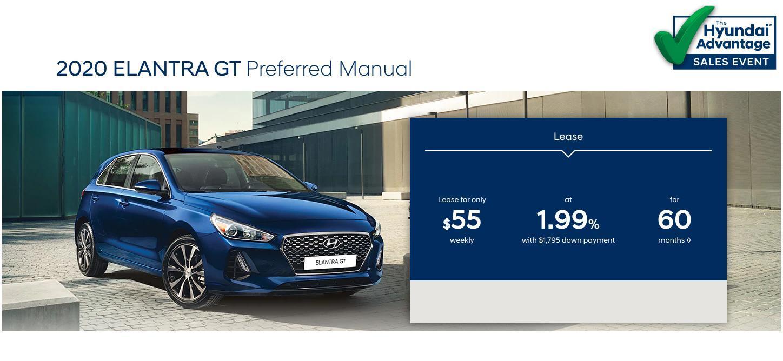 Hyundai Sales Advantage Event - 2020 Elantra GT Preferred Manual Blue | Corey Hyundai