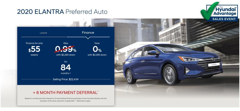 Hyundai Sales Advantage Event - 2020 Hyundai Elantra Preferred Auto Blue | Corey Hyundai