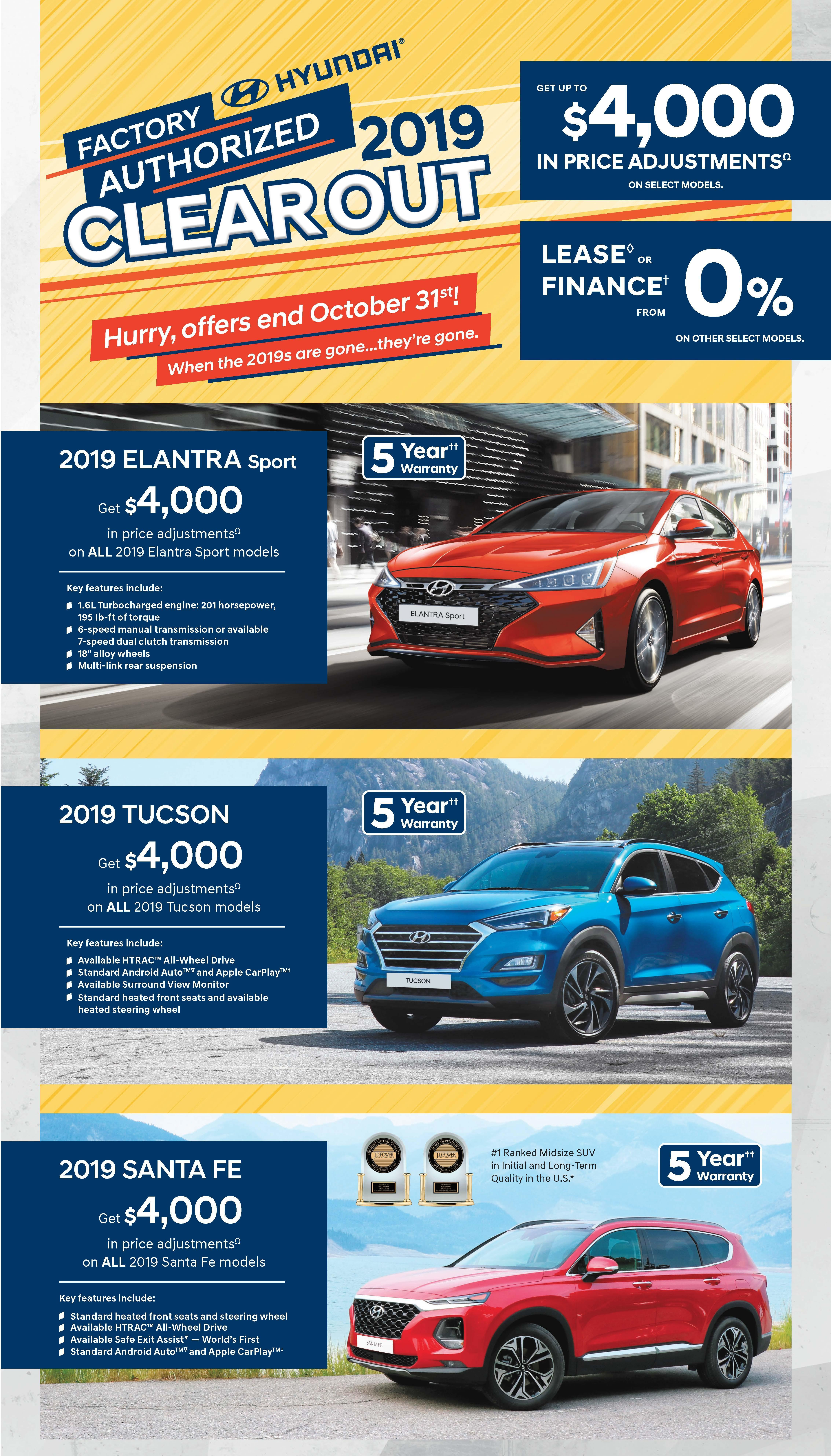 October 2019 Month Offers Central Nova