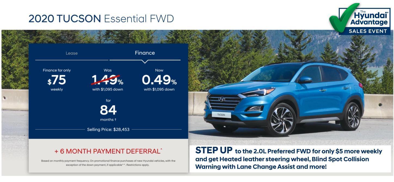 Hyundai Sales Advantage Event - 2020 Tucson Essential FWD Teal | Corey Hyundai