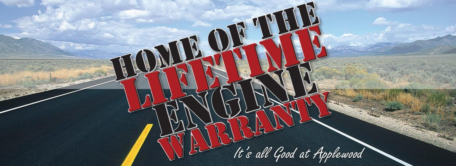 Applewood Ford Home of the Lifetime Engine Warranty