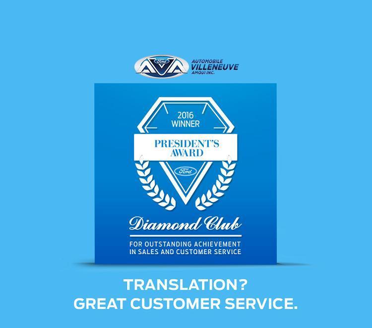 President's Award Automobile Villeneuve Amqui