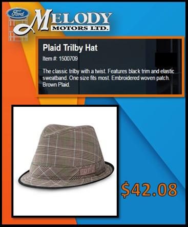 Plaid Trilby hat