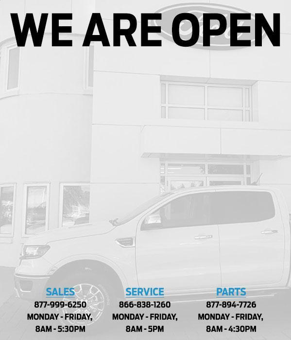 CSL Ford Sales is OPEN