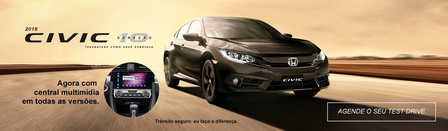 Civic 2018. Consórcio Honda Dealer
