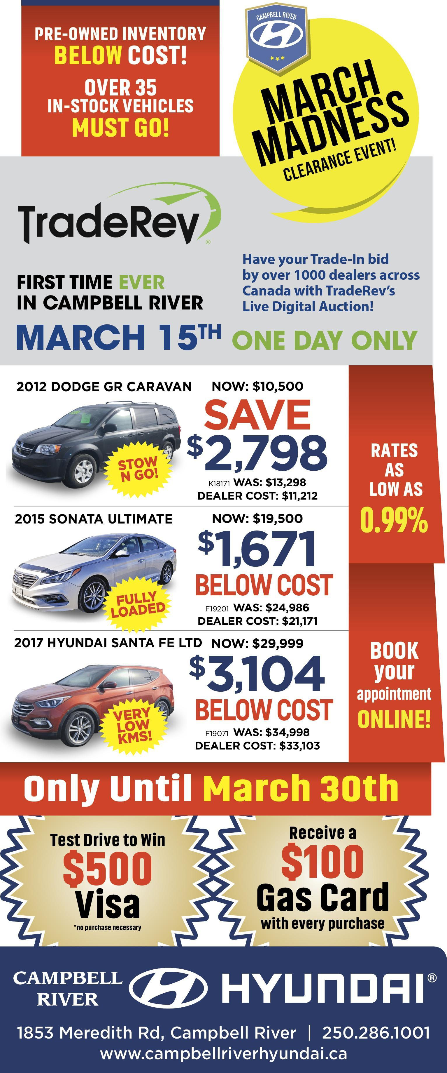 March Madness Pre-Owned - Campbell River Hyundai