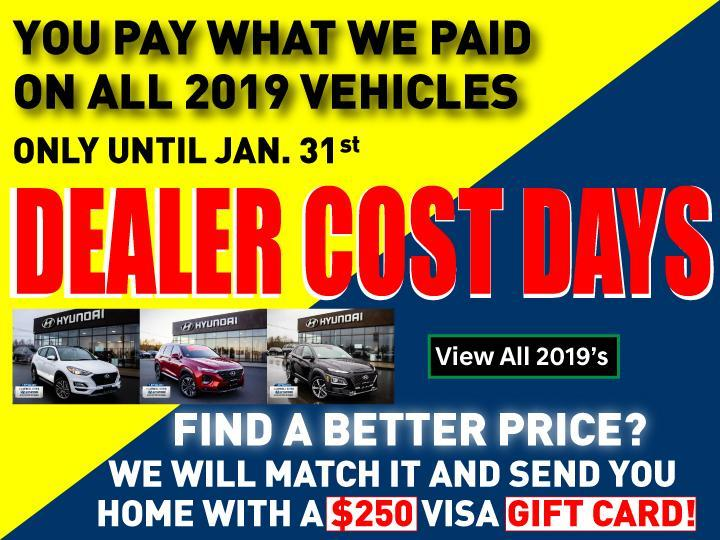 Cambell RIver Hyundai Dealer Cost Days