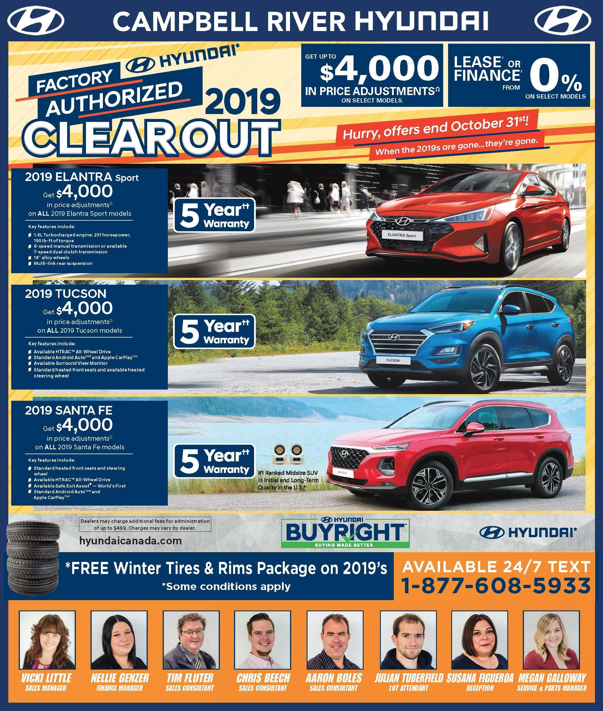 October 2019 Month Offers CRH