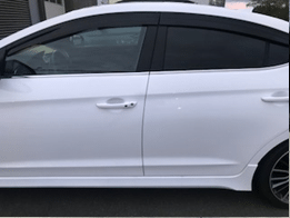 Hyundai White Exterior | Vent Visors | Accessories Department | Campbell River Hyundai