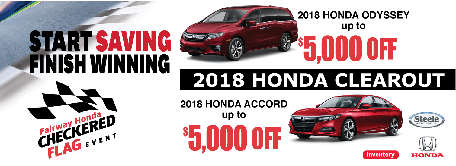 2018 Clearout - Fairway Honda