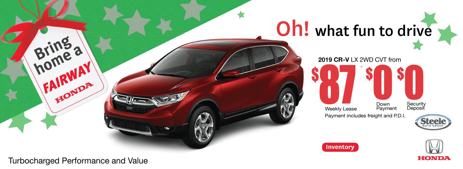 CRV Holiday Offer