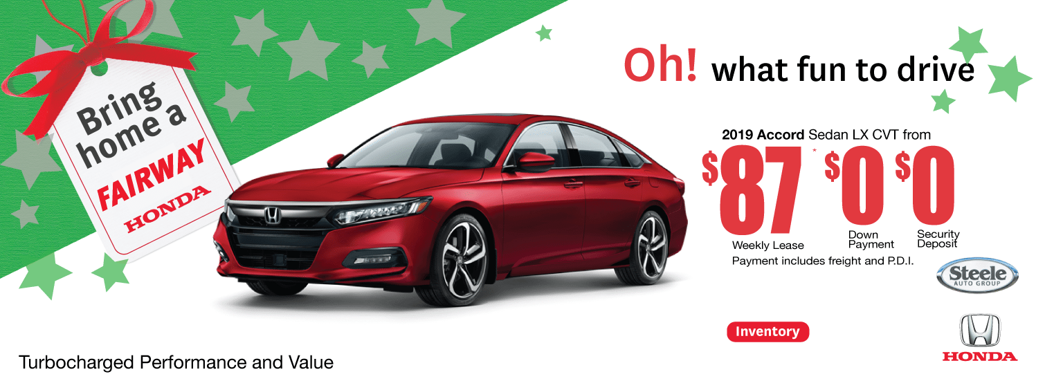 Accord Holiday Offer