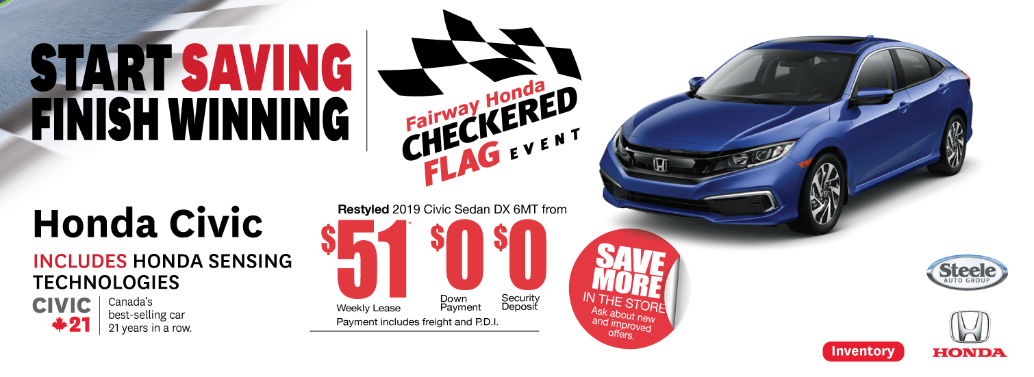 Checkered Flag Event Civic Fairway Honda