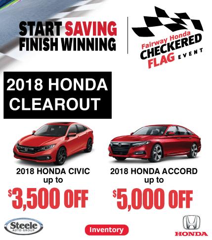 Fairway Honda 2018 Clearout
