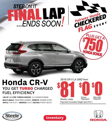 Checkered Flag Event Fairway Honda CR-V
