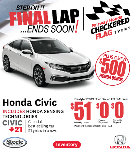 Checkered Flag Event Fairway Honda Civic